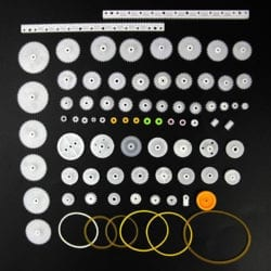 Juego de engranes de Plástico 8-56 dientes