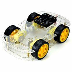 Kit Carrito 4WD Robot Seguidor Lineas Con Accesorios
