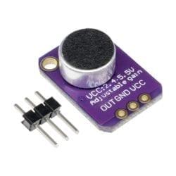 Amplificador con Micrófono Electret MAX4466